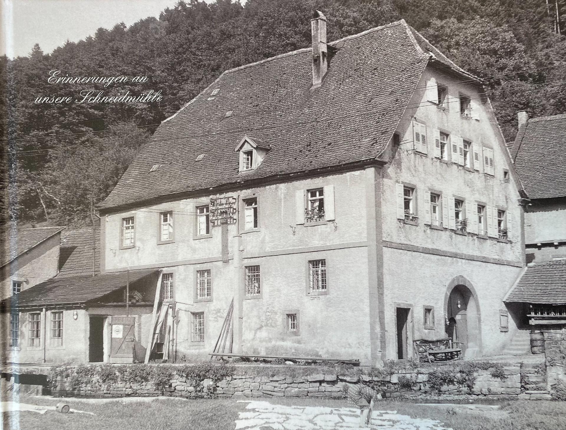 Aquarell der Schneidmühle in Hirschhorn